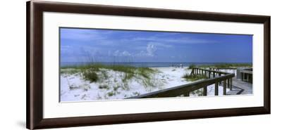 Footbridge on a Beach, St. George Island State Park, Gulf of Mexico, Florida, USA--Framed Photographic Print