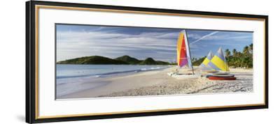 Sail Boats on the Beach, Antigua, Caribbean Islands--Framed Photographic Print