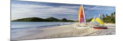 Sail Boats on the Beach, Antigua, Caribbean Islands--Mounted Photographic Print