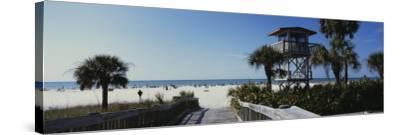 Walkway Leading to the Beach, Siesta Key, Florida, USA--Stretched Canvas Print