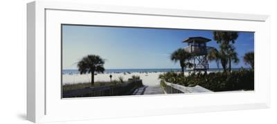 Walkway Leading to the Beach, Siesta Key, Florida, USA--Framed Photographic Print