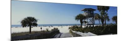 Walkway Leading to the Beach, Siesta Key, Florida, USA--Mounted Photographic Print