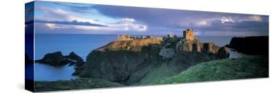 Castle, Stonehaven, Grampian, Aberdeen, Scotland--Stretched Canvas Print