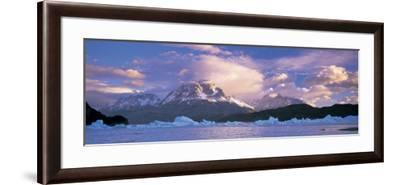 Cloudy Sky over Mountains, Lago Grey, Torres del Paine National Park, Patagonia, Chile--Framed Photographic Print