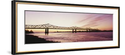 Crescent City Connection Bridge, Mississippi River, Natchez, Mississippi, USA--Framed Photographic Print