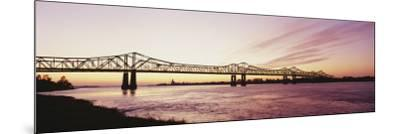 Crescent City Connection Bridge, Mississippi River, Natchez, Mississippi, USA--Mounted Photographic Print