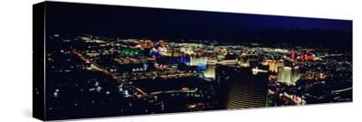 City Lit Up at Night, the Strip, Las Vegas, Nevada, USA--Stretched Canvas Print