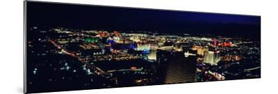 City Lit Up at Night, the Strip, Las Vegas, Nevada, USA--Mounted Photographic Print