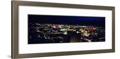 City Lit Up at Night, the Strip, Las Vegas, Nevada, USA--Framed Photographic Print