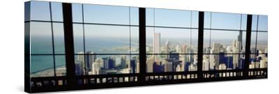 City as Seen through a Window, Chicago, Illinois, USA--Stretched Canvas Print