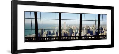 City as Seen through a Window, Chicago, Illinois, USA--Framed Photographic Print