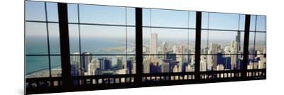 City as Seen through a Window, Chicago, Illinois, USA--Mounted Photographic Print