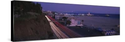 Traffic on a Road, Santa Monica, California, USA--Stretched Canvas Print