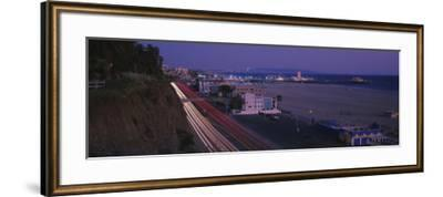 Traffic on a Road, Santa Monica, California, USA--Framed Photographic Print