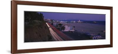 Traffic on a Road, Santa Monica, California, USA--Framed Photographic Print