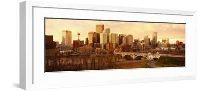 Buildings at the Waterfront, Bow River, Calgary, Alberta, Canada--Framed Photographic Print