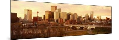 Buildings at the Waterfront, Bow River, Calgary, Alberta, Canada--Mounted Photographic Print