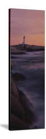 Lighthouse on the Coast, Nova Scotia, Canada--Stretched Canvas Print