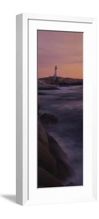 Lighthouse on the Coast, Nova Scotia, Canada--Framed Photographic Print