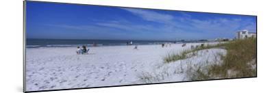 Tourists on the Beach, Crescent Beach, Gulf of Mexico, Siesta Key, Florida, USA--Mounted Photographic Print