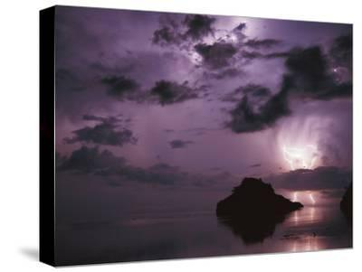 Lightning and Thunderstorm Over Sulu-Sulawesi Seas, Indo-Pacific Ocean-Jurgen Freund-Stretched Canvas Print