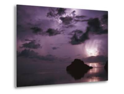 Lightning and Thunderstorm Over Sulu-Sulawesi Seas, Indo-Pacific Ocean-Jurgen Freund-Metal Print