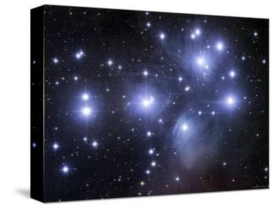 The Pleiades-Stocktrek Images-Stretched Canvas Print