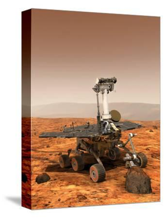 Artists Rendition of Mars Rover-Stocktrek Images-Stretched Canvas Print