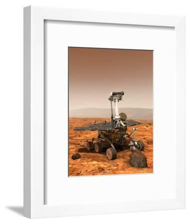 Artists Rendition of Mars Rover-Stocktrek Images-Framed Photographic Print