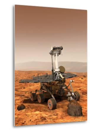Artists Rendition of Mars Rover-Stocktrek Images-Metal Print