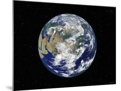 Fully Lit Earth Centered on Asia-Stocktrek Images-Mounted Photographic Print