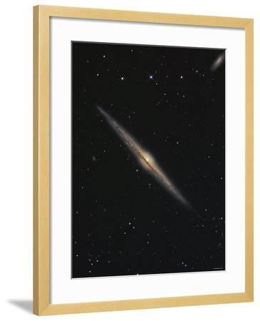 NGC 4565 is an Edge-On Barred Spiral Galaxy in the Constellation Coma Berenices-Stocktrek Images-Framed Photographic Print