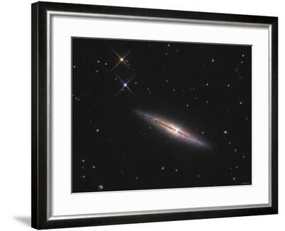 NGC 4013 is an Edge-On Unbarred Spiral Galaxy in the Constellation Ursa Major-Stocktrek Images-Framed Photographic Print