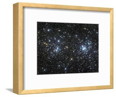 The Double Cluster, NGC 884 and NGC 869, as Seen in the Constellation of Perseus-Stocktrek Images-Framed Photographic Print