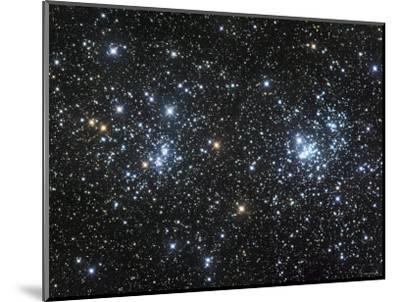 The Double Cluster, NGC 884 and NGC 869, as Seen in the Constellation of Perseus-Stocktrek Images-Mounted Photographic Print