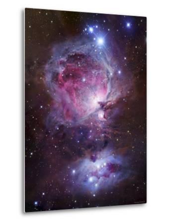 M42, the Orion Nebula (Top), and NGC 1977, a Reflection Nebula (Bottom)-Stocktrek Images-Metal Print