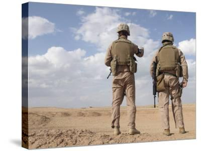 Marines Scan the Horizon for Insurgent Activity During a Security Patrol-Stocktrek Images-Stretched Canvas Print