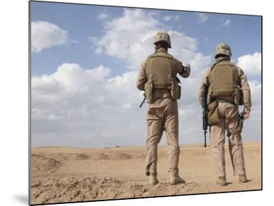 Marines Scan the Horizon for Insurgent Activity During a Security Patrol-Stocktrek Images-Mounted Photographic Print