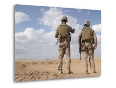 Marines Scan the Horizon for Insurgent Activity During a Security Patrol-Stocktrek Images-Metal Print