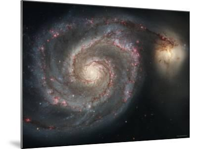 The Whirlpool Galaxy (M51) and Companion Galaxy-Stocktrek Images-Mounted Photographic Print