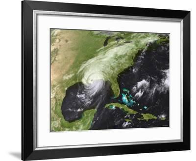 Hurricane Katrina Moved Ashore Over Southeast Louisiana and Southern Mississippi on August 29, 2005-Stocktrek Images-Framed Photographic Print