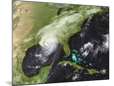 Hurricane Katrina Moved Ashore Over Southeast Louisiana and Southern Mississippi on August 29, 2005-Stocktrek Images-Mounted Photographic Print
