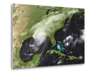 Hurricane Katrina Moved Ashore Over Southeast Louisiana and Southern Mississippi on August 29, 2005-Stocktrek Images-Metal Print