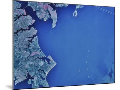 Satellite Image of Chesapeake Bay and Annapolis, Maryland-Stocktrek Images-Mounted Photographic Print