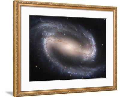 Beautiful Barred Spiral Galaxy NGC 1300, Hubble Space Telescope-Stocktrek Images-Framed Photographic Print