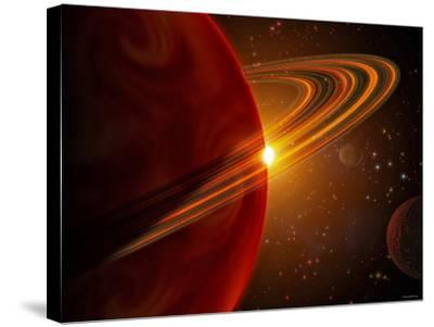 This is an Artist's Concept of Giant Planet Recently Discovered Orbiting the Sun-Like Star 79 Ceti-Stocktrek Images-Stretched Canvas Print