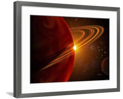 This is an Artist's Concept of Giant Planet Recently Discovered Orbiting the Sun-Like Star 79 Ceti-Stocktrek Images-Framed Photographic Print