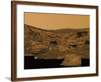 Intricately Layered Exposures of Rock-Stocktrek Images-Framed Photographic Print