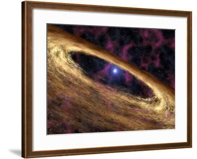 Artist's Concept Depicts a Type of Dead Star Called a Pulsar and the Surrounding Disk of Rubble-Stocktrek Images-Framed Photographic Print