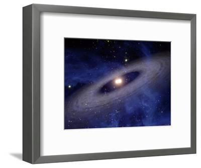 Planets and Asteroids Circle Around Not One, But Two Suns-Stocktrek Images-Framed Photographic Print